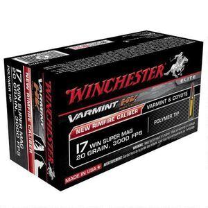 Winchester Varmint HV .17 WSM Ammunition 500 Rounds, PT, 20  Grain