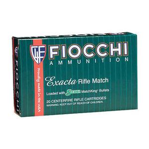 Fiocchi Exacta Rifle Match .308 Win Ammunition 20 Rounds 175 Grain Sierra MatchKing HPBT 2595 fps