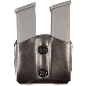 DeSantis Double Mag Pouch GLOCK 42 OWB Magazine Holster Ambidextrous Vertical or Horizontal Leather Black