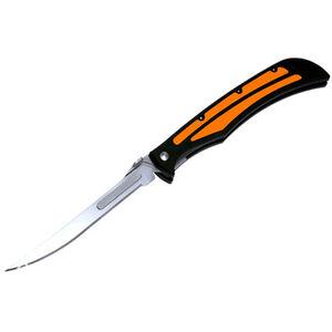 "Havalon Knives Baracuta-Edge 5"" Folding Liner Lock Fillet Knife Plain Replaceable Blades Polymer Handle Japanese Stainless Steel Blades Black/Orange/Stainless"