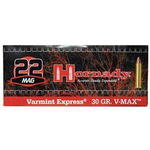 Hornady Varmint Express .22 WMR Ammunition 200 Rounds 30 Grain Hornady V-Max Projectile 2200fps