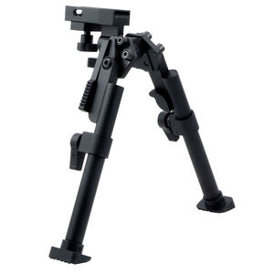 I.O. Inc Tactical Bipod Picatinny Compatible Tool-Less Installation/Replaceable Rubber Feet/Spring Lock Leg Matte Black Finish