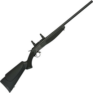 "CVA Hunter Single Shot Break Action Rifle .444 Marlin 25"" Barrel with Scope Mount Black Synthetic Stock Blued Finish"