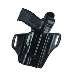 Bianchi Model 140 Reveal Leather Holster Right Hande GLOCK 17/22 with TLR-1, M3 Lights Black 25926