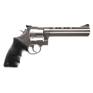 """Taurus 44 Double Action Revolver .44 Magnum 6.5"""" Ported Barrel 6 Rounds Fixed Front Sight/Adjustable Rear Sight Rubber Grip Matte Stainless Steel Finish"""