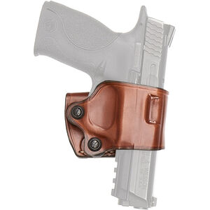 Aker Leather 154 Yaqui Slide Holster Colt 1911 and Clones Belt Holster Right Hand Leather Plain Tan