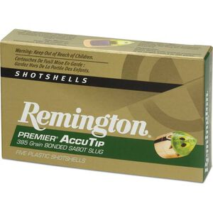 "Remington 12 Ga 3"" 385gr AccuTip Sabot Slug 5 Rounds"