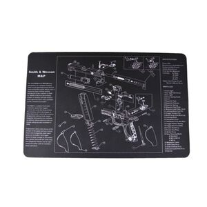 """JE Machine 11"""" x 17"""" Handgun Cleaning Mat with Smith & Wesson M&P Imprint"""
