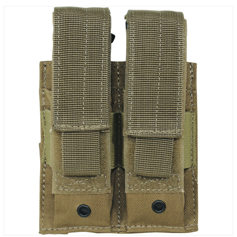 Voodoo Tactical Double Pistol Magazine Pouch MOLLE Compatible Nylon Coyote Tan MS-20-7975-Tan