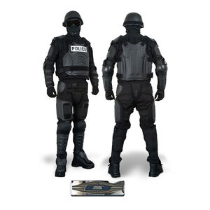 Damascus Protective Gear FX-1 FlexForce Modular Hard Shell Crowd Control System, X-Large