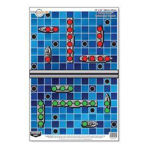 """Birchwood Casey Pregame 23.00""""x35"""" Battle at Sea Paper Target Reactive Zones Indoor/Outdoor 5 Pack 37046"""