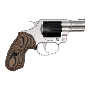 "Colt Cobra TT .38 Special +P Double Action Revolver 2"" Barrel 6 Round Cylinder Fiber Optic Front Sight Trench Rear Black DLC Cylinder/Matte Stainless Steel Finish"