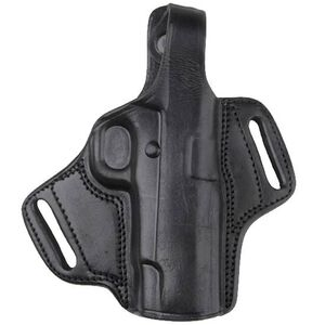Bulldog Cases Molded Leather GLOCK 17/S&W M&P 9mm Luger Belt Holster Right Hand Black LMH-XL