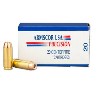Armscor USA .50 AE Ammunition 20 Rounds Hornady XTP JHP 300 Grains F AC 50AE-1N
