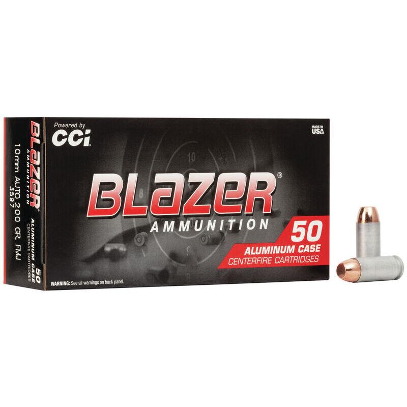 CCI Blazer Aluminum 10mm Auto Ammunition 200 Grain Full Metal Jacket 1050fps 50 Rounds