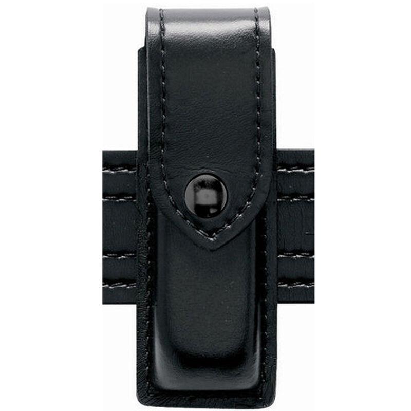 Safariland Model 76 Single Magazine Pouch Size 9 Hidden Snap High Gloss Black 76-76-9HS