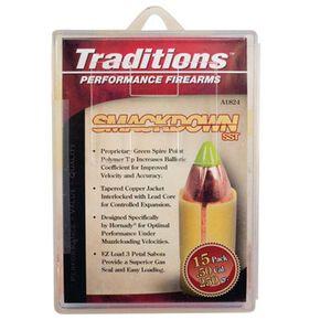 Traditions Hornady Smackdown .50 Caliber .45 Diameter 250 Grain SST Bullet 15 Count