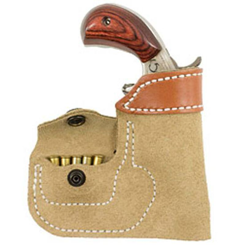 DeSantis Pocket Holster North American Arms Mini's Ambidextrous Leather Natural Tan 109NAX4
