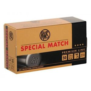 RWS Special Match .22 LR 50 Rounds LRN 40 Grain