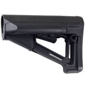 Magpul STR Commercial AR-15 Carbine Stock With Storage Tubes Friction Lock And QD Sling Attachment Points And Rubber Buttpad Polymer Black MAG471-BLK