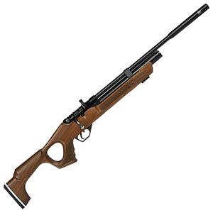 "Hatsan Flash QE .22 Caliber PCP Air Rifle 17.7"" Barrel 970 fps 12 Shot Walnut Thumbhole Stock Black Finish"