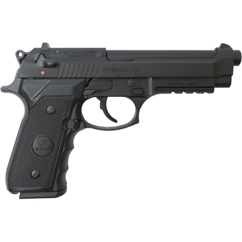 "EAA GiRSAN Regard MC 9mm Luger Semi Auto Pistol 4.9"" Barrel 18 Rounds Beretta 92 Style Pistol with Accessory Rail Ambidextrous Safety Black Finish 390080"