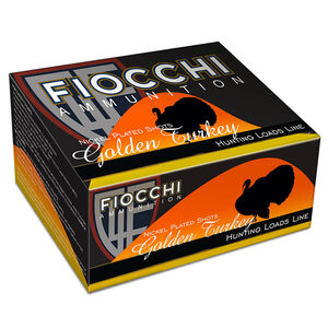 "Fiocchi Golden Turkey 12 Gauge Ammunition 10 Rounds 3"" #5 Shot 1-3/4oz Nickel Plated Lead 1325fps"