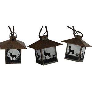 Lantern Light Set Rustic Deer