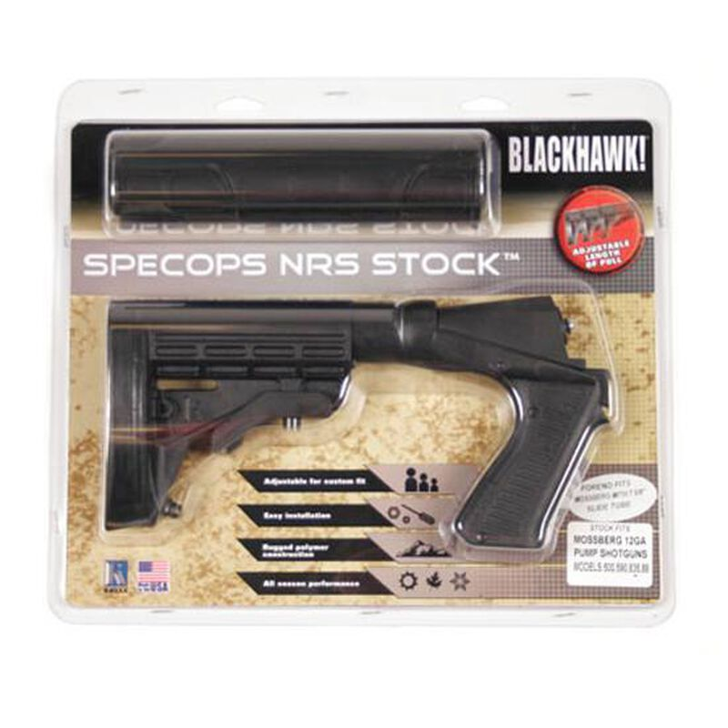 BLACKHAWK! KNOXX SpecOps NRS Stock For Mossberg 500 Polymer Black