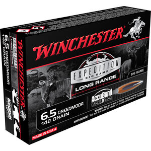 Winchester Expedition 6.5 Creedmoor Ammunition 20 Rounds Accubond 142 Grains S65LR