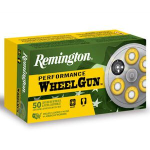 Remington Performance WheelGun .38 S&W Ammunition 50 Rounds 146 Grain Lead Round Nose 685fps
