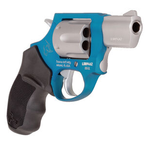 """Taurus 856 UL Ultralite .38 Special +P Double Action Revolver 2"""" Barrel 6 Rounds Fixed Sights Rubber Grips Matte SS Cylinder/Azure Frame Finish"""