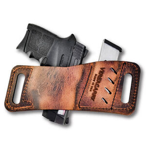 Versacarry Rapid Slide Micro Holster with Mag Pouch, Brown