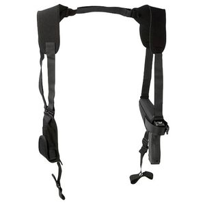 "Uncle Mike's Pro Pak Horizontal Shoulder Holster 4"" Barrel Medium and Intermediate Frame Double Action Revolvers Right Hand Nylon Black 7702-0"