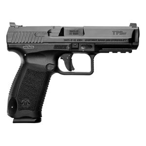 "Canik TP9SF 9mm Luger Semi Auto Pistol 4.46"" Barrel 18 Rounds Warren Tactical Sights Picatinny Rail Polymer Frame Black Finish"