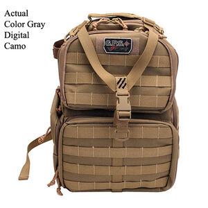 G Outdoors Tactical Range Backpack Waist Strap Nylon Gray Digital Camo