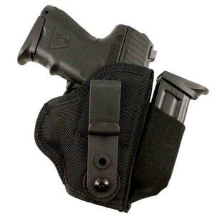 DeSantis Gunhide Tuck-This II GLOCK 17, 19, 22, 23, 31, 32, Walther P99, Ruger SR9, SR40 Tuckable Inside the Waistband Holster Ambidextrous Nylon Black M24BJLAZ0