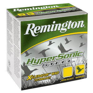 "Remington HyperSonic Steel 10 Gauge Ammunition 25 Rounds 3-1/2"" Length 1-1/2 Ounce #2 Steel Shot 1500fps"