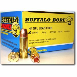 Buffalo Bore Heavy .44 Special Ammunition 20 Rounds Barnes TAC-XP 200 Grain 14D/20