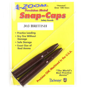 A-Zoom Precision Metal Snap Caps .303 British Aluminum 2 Pack 12226