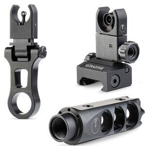 Ultradyne AR-15 MERCURY and C4 Dynamount Folding Sight Combo .223/5.56 Caliber 1/2x28 Threads Nitride Black