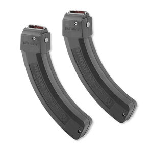 Two Ruger 10/22 BX-25 Series Magazine .22 LR 25 Round Polymer Construction Matte Black Finish Two Pack