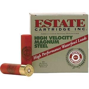 """Estate Cartridge High Velocity Magnum Steel Load 20 Gauge Ammunition 2-3/4"""" Shell #2 Steel Shot 3/4oz 1400fps"""