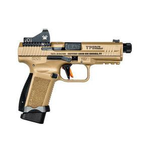 "Canik TP9 Elite Combat 9mm Luger Semi Auto Pistol 4.73"" Threaded Barrel 15/18 Rounds Salient Sight Set Vortex Viper Cerakote Over Nitride Finish Flat Dark Earth"