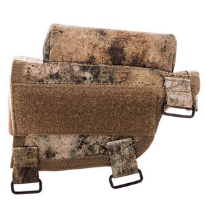 Voodoo Tactical Adjustable Cheek Rest With Detachable Ammo Carrier For Rifle Buttstock Ambidextrous Design Tactical Nylon VTC Camouflage Pattern