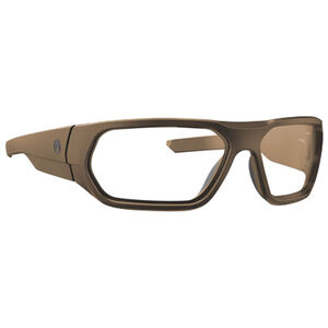 Magpul Radius Eyewear Clear Polycarbonate Lens Z87+ and MIL-PRF 32432 Rated TR90NZZ Frame Flat Dark Earth
