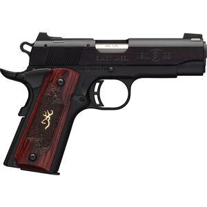 "Browning 1911-22 A1 Black Label Medallion Compact Semi Auto Rimfire Pistol .22 LR 3.625"" Barrel 10 Rounds Rosewood Grips Black"