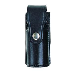 Bianchi Model 36A PatrolTek Mk IV Chemical Agent Dispenser Pouch Leather Chrome Snap Basketweave Black 26426