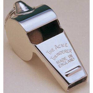 ACME Thunderer Whistle Very High Volume Easy Blowrate Polished Brass 60.5PB
