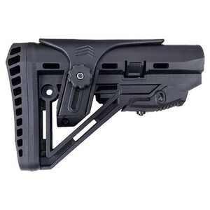 XTS AR-15 XTS-104 Shock Absorbing Stock With Cheek Rest Mil-Spec Buffer Polymer Black